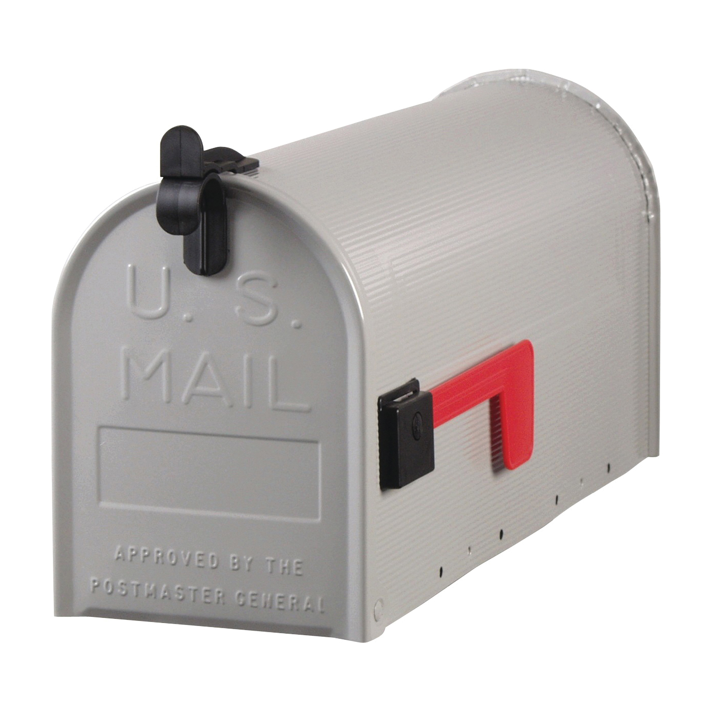 Picture of Gibraltar Mailboxes Grayson ST100000 Rural Mailbox, 800 cu-in Capacity, Galvanized Steel, Powder-Coated, 7 in W