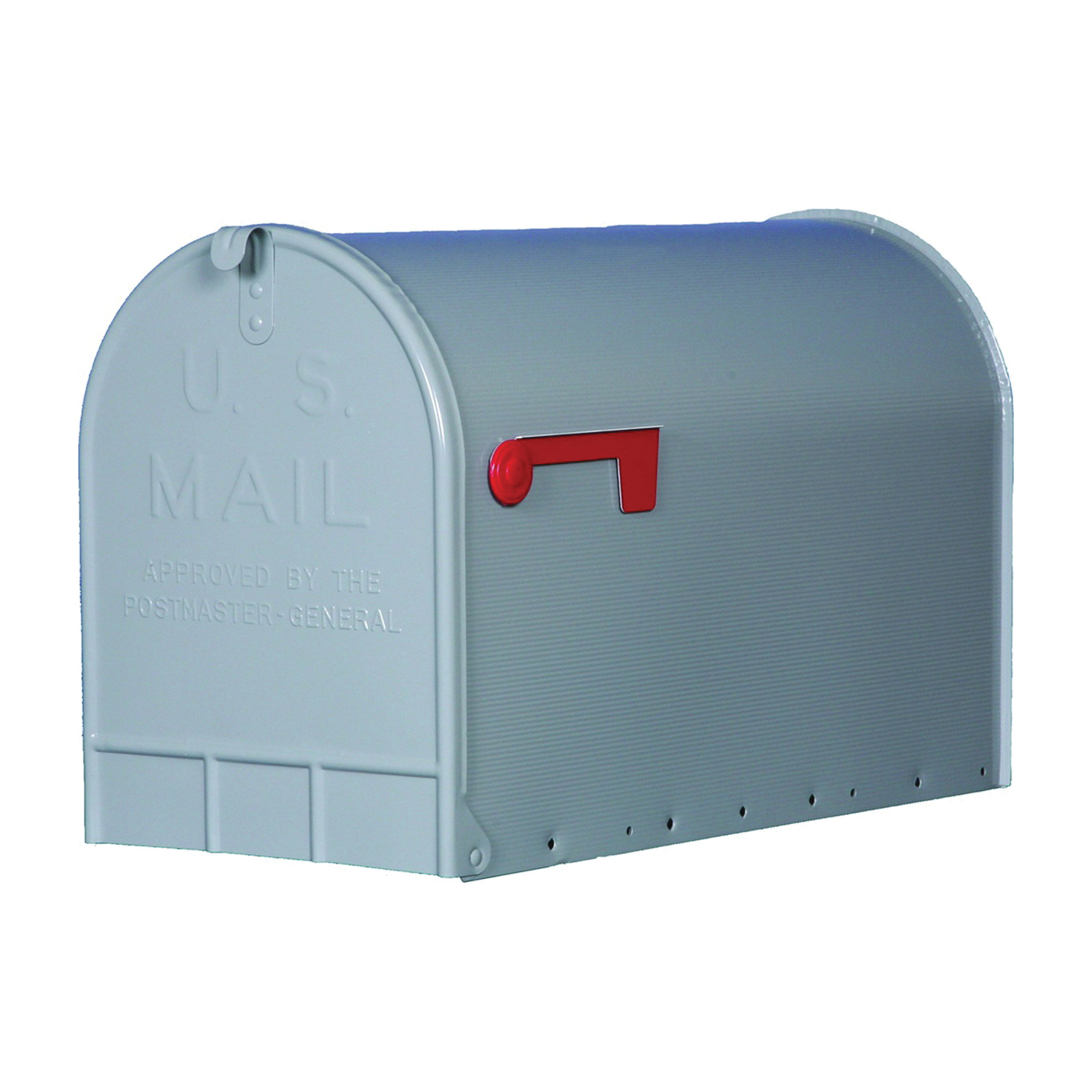 Picture of Gibraltar Mailboxes ST200000 Rural Mailbox, 3175 cu-in Capacity, Galvanized Steel, Powder-Coated, 11.7 in W, Gray