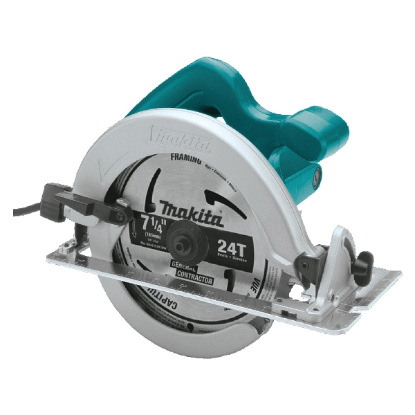 Picture of Makita HS7600 Circular Saw, 120 V, 10.5 A, 1400 W, 7-1/4 in Dia Blade, 5/8 in Arbor, 0 to 45 deg Bevel