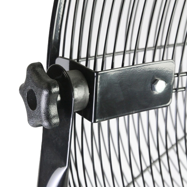 Picture of MaxxAir HVPF 30 YOKE High-Velocity Pedestal Fan, 120 V, 1.65 A, 360 deg Sweep, 30 in Dia Blade, Black