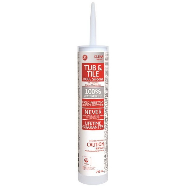Picture of GE Silicone I SE1191 Tub and Tile Sealant, Clear, 10.1 oz Package