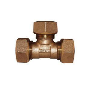 Picture of Legend T-4451NL 313-434NL Pipe Tee, 3/4 in, Ring Compression, Bronze