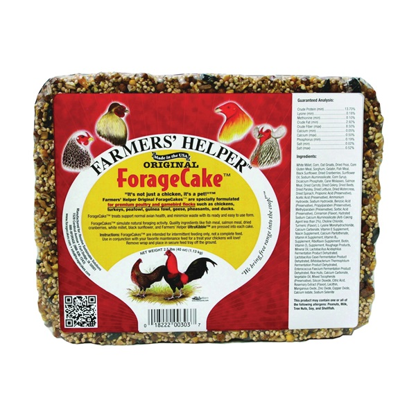 Picture of C&S Farmers' Helper CS06303 Bird Forage Cake, 2.5 lb Package, Pack