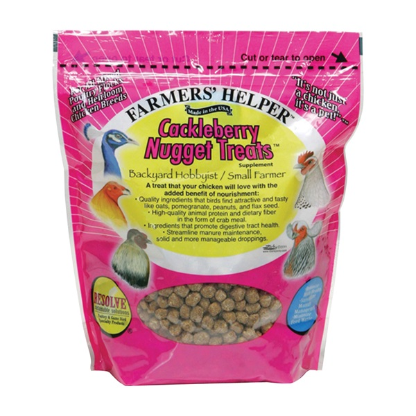 Picture of C&S Farmers' Helper CS06338 Cackleberry Nugget Treats, Nugget, 27 oz Package