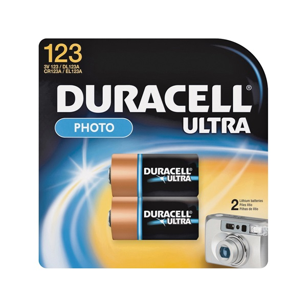 Picture of DURACELL 41333212104 Lithium Battery, 3.2 to 3.3 V Battery, 1400 mAh, 3 V Battery, Manganese Dioxide