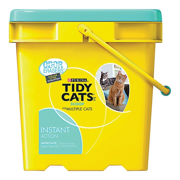 Picture of Tidy Cats Instant Action 7023010785 Cat Litter, 35 lb Capacity, Gray/Tan, Granular, Jug