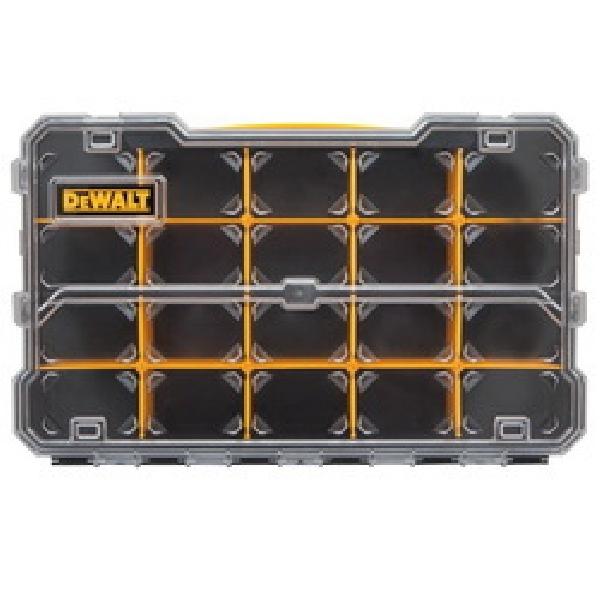 Picture of DeWALT DWST14835 Pro Organizer, 17-5/8 in L, 6-5/8 in W, 2-7/8 in H, 10 -Compartment, Polycarbonate, Black