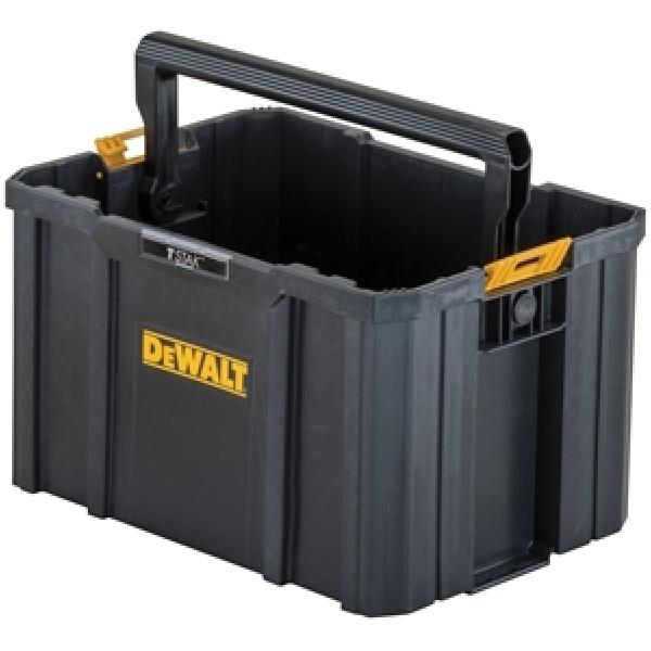 Picture of DeWALT TSTAK DWST17809 Open Tote, 12-1/2 in W, 17-1/4 in D, 10-3/4 in H, Plastic, Black/Yellow