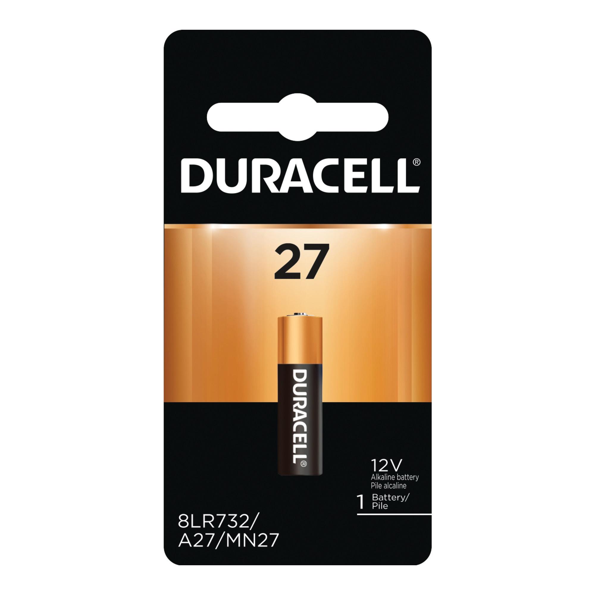 Picture of DURACELL MN27BPK DURACELL MN27 Battery, 12 V Battery, 20 mAh, MN27 Battery, Alkaline
