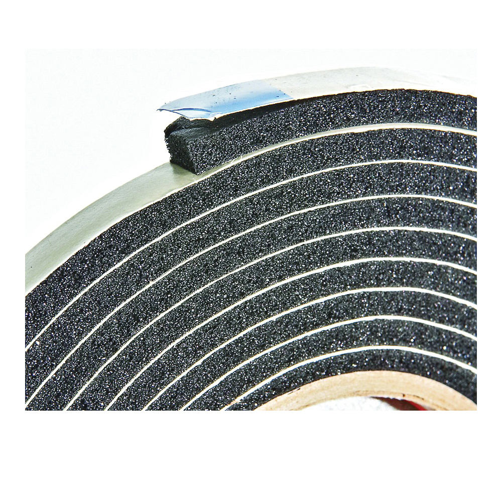Picture of Frost King R338H Foam Tape, 3/8 in W, 10 ft L, 3/16 in Thick, Rubber, Black