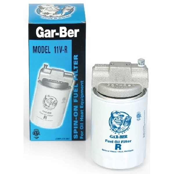Picture of General Filters Gar-Ber 1600 Spin-On Fuel Filter, 3/8 in Connection, NPT, 45 gph, 10 um Filter, Aluminum Head