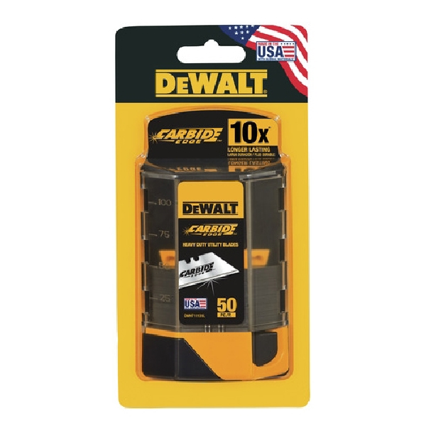 Picture of DeWALT DWHT11131 Utility Blade, 2-1/2 in L, Steel, Straight Edge, 1 -Point, 5, Pack
