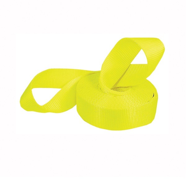 Picture of KEEPER 89922-10A Vehicle Recovery Strap, 15,000 lb, 2 in W, 20 ft L, Yellow