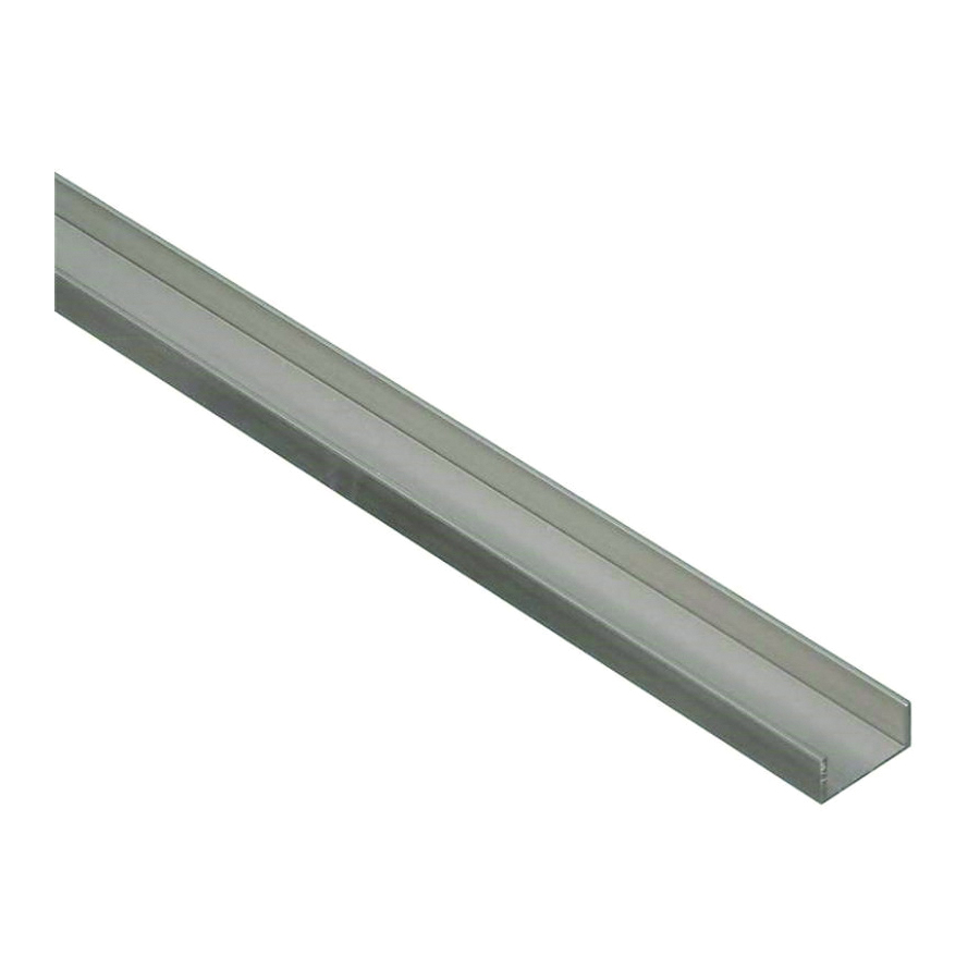 Picture of Stanley Hardware 4208BC Series 258525 Channel, 96 in L, 1/16 in Thick, Aluminum, Mill