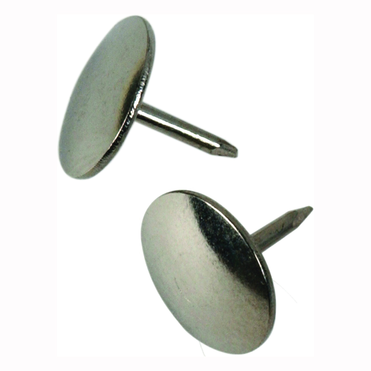 Picture of HILLMAN 122670 Thumb Tack, 15/64 in Shank, Steel, Nickel, Cap Head, Sharp Point, Snap-Pak