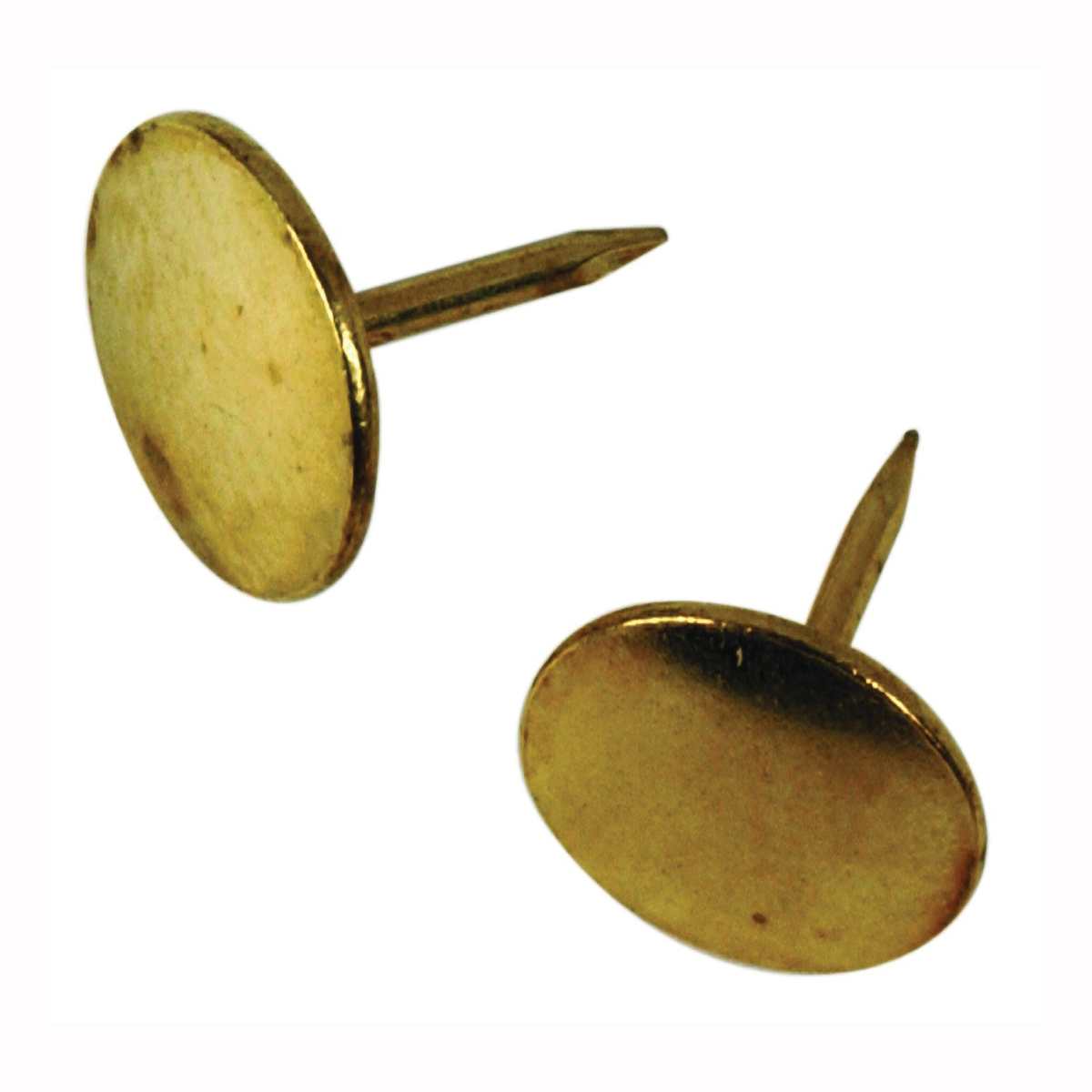 Picture of HILLMAN 122672 Thumb Tack, 15/64 in Shank, Steel, Brass, Cap Head, Sharp Point, Snap-Pak