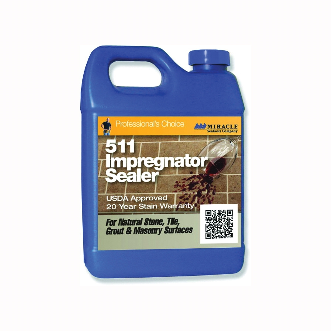 Picture of MIRACLE SEALANTS 511 Series 511-PT-12/1 Impregnator Sealer, Liquid, Colorless, 1 pt, Can