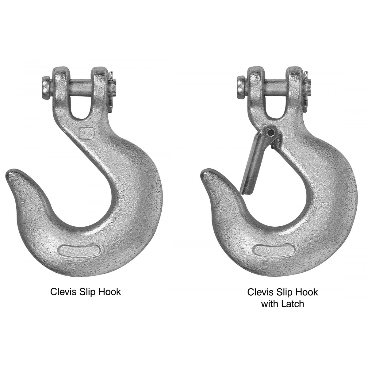Picture of Campbell T9700624 Clevis Slip Hook with Latch, 3/8 in Trade, 5400 lb Working Load, 43 Grade, Steel, Zinc