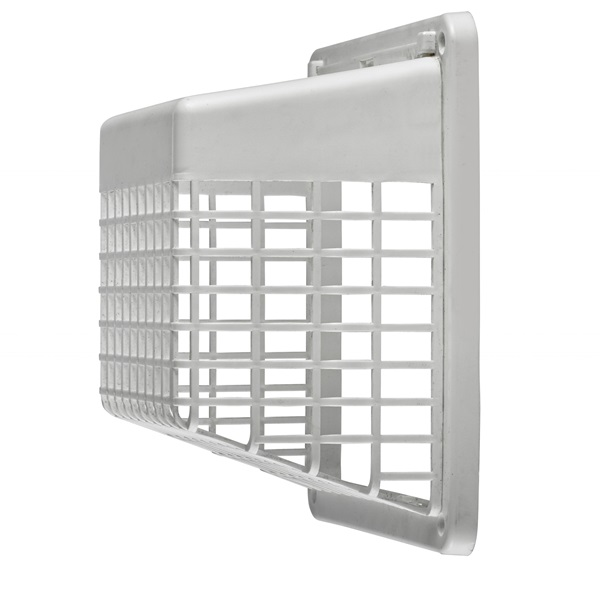 Picture of Lambro 1491WG Vent Guard, Universal, Plastic, White, For: 3 in, 4 in Hoods, Louvered Vents, 12