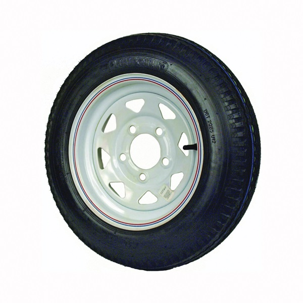 Picture of MARTIN WHEEL DM412B-5C-I Trailer Tire, 1120 lb Withstand, 4-1/2 in Dia Bolt Circle, Rubber