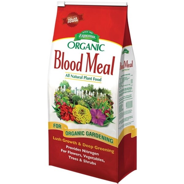Picture of ESPOMA Blood Meal DB3 Plant Food, Granular, 3.5 lb Package, Bag