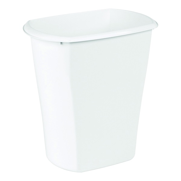 Picture of Sterilite 10528006 Waste Basket, 5.5 gal Capacity, Rectangular, White, 10 in W, 15 in D, 15-7/8 in H