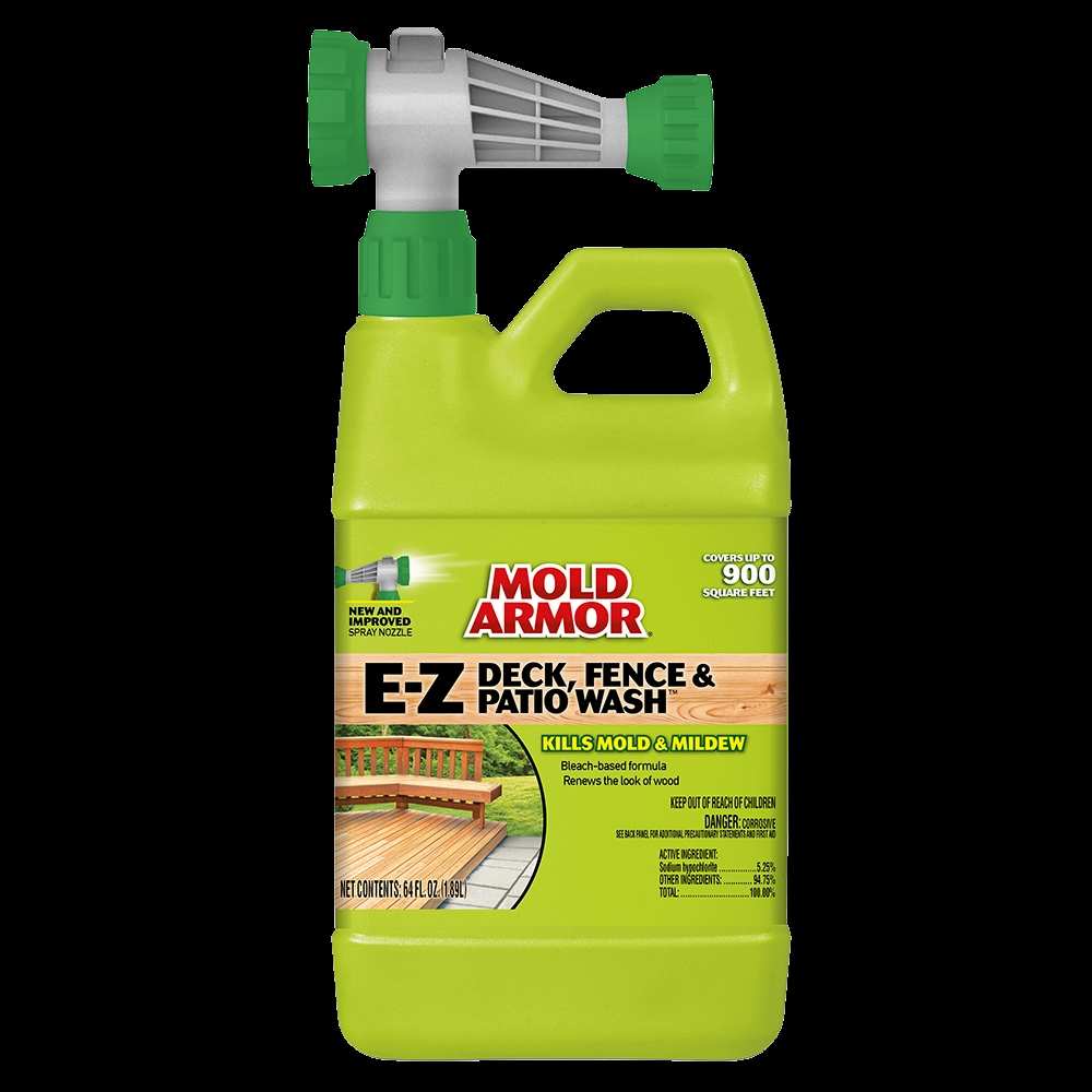 Picture of Mold Armor FG51264 Deck and Fence Wash, Liquid, Yellow, 64 oz, Spray Dispenser