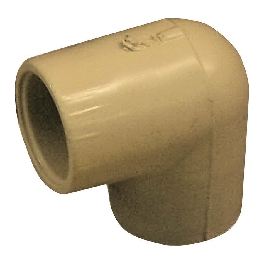Picture of GENOVA 500 50705 Slip Elbow, 1/2 in, Slip-Joint x Slip, 90 deg Angle, CPVC, 400 psi Pressure