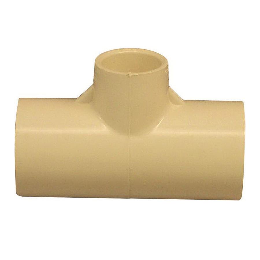 Picture of GENOVA 500 51471 Tube Tee, 3/4 x 1/2 in, Slip x Slip-Joint, CPVC, 100 psi Pressure