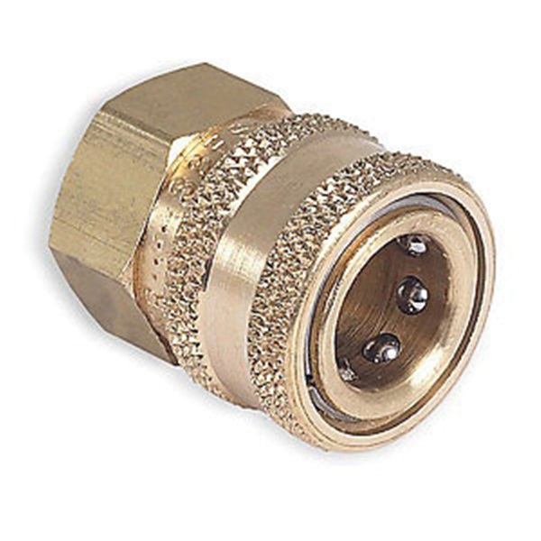 Picture of Mi-T-M AW-0017-0004 Quick-Connect Adapter, 3/8 x 3/8 in Connection, Socket x FNPT, Brass