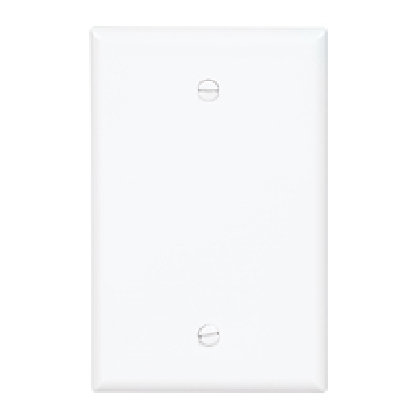 Picture of Eaton Wiring Devices PJ23LA Blank Wallplate, 4.87 in L, 4.97 in W, 0.08 in Thick, 2-Gang, Polycarbonate
