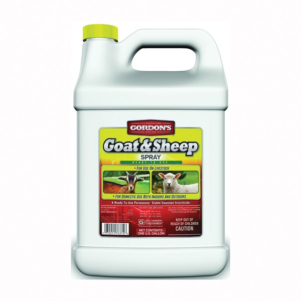 Picture of Gordon's 7631072 Goat and Sheep Spray, Liquid, Yellow, Solvent, 1 gal Package