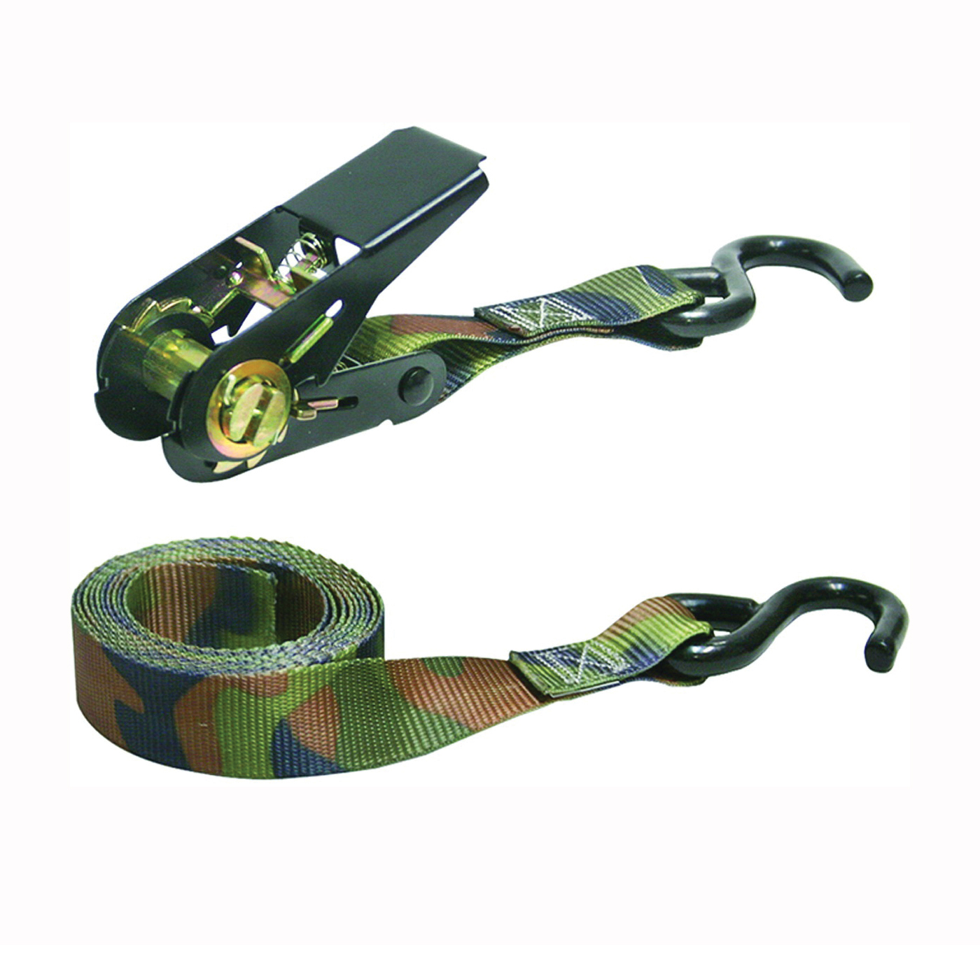 Picture of KEEPER 03508-V Tie-Down, 1 in W, 8 ft L, Camouflage, 400 lb, S-Hook End Fitting