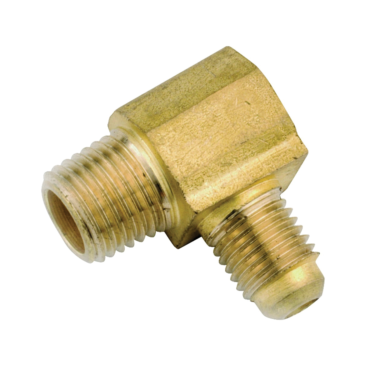Picture of Anderson Metals 754049-0404 Tube Elbow, 1/4 in, 90 deg Angle, Lead-Free Brass, 1400 psi Pressure