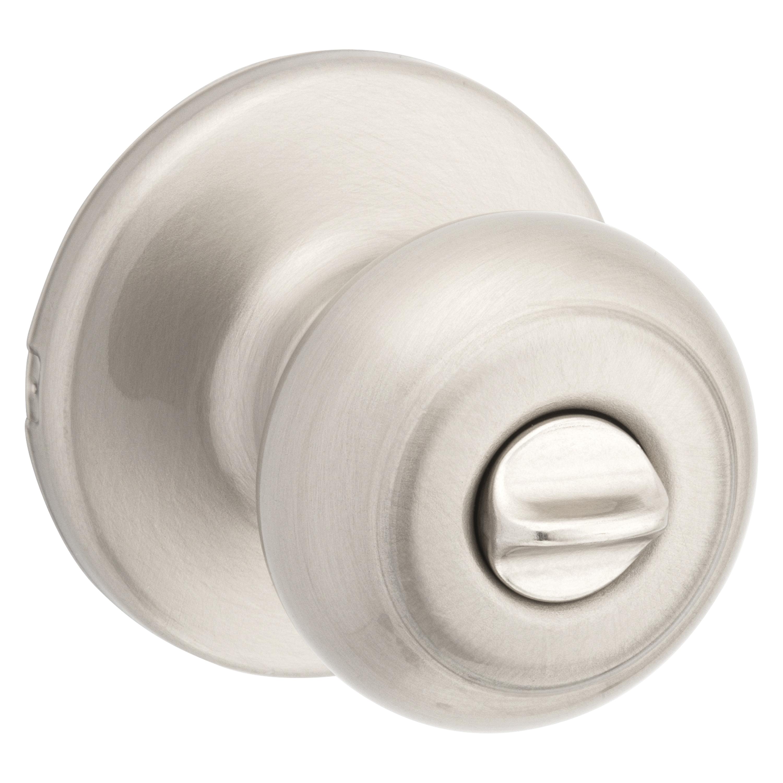 Picture of Kwikset 300CV 15 RCAL RCS Privacy Door Knob, Satin Nickel