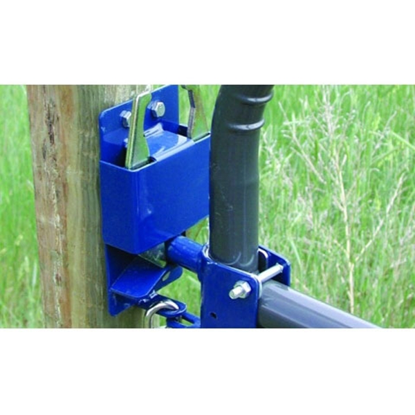Picture of SpeeCo S16100100 Gate Latch, 2-Way Lockable, Steel, Blue, For: 1-1/4 to 2 in OD Round Tube Gate
