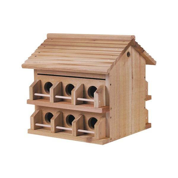 Picture of HEATH M-12DP Bird House, 2-3/4 in W, 2-3/4 in D, 10 in H, Cedar/Redwood, Brown