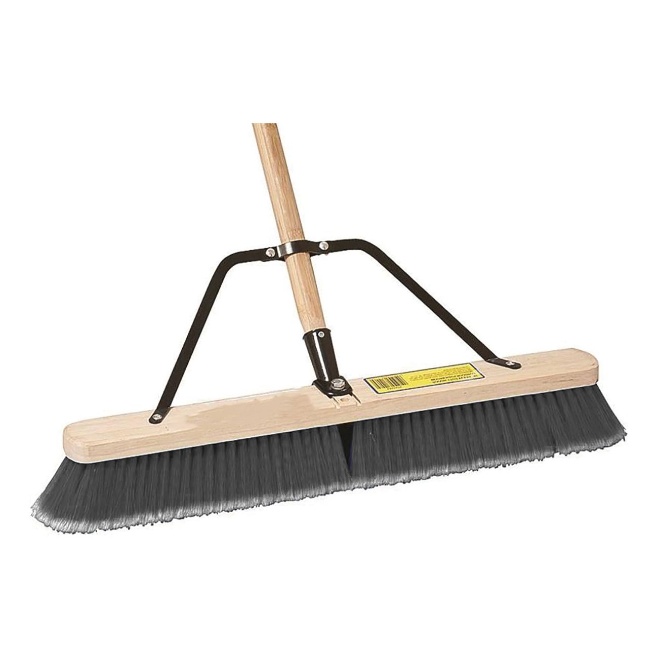 Picture of Simple Spaces 93140 Push Broom, 3 in L Trim, Polypropylene Bristle, Hardwood Handle