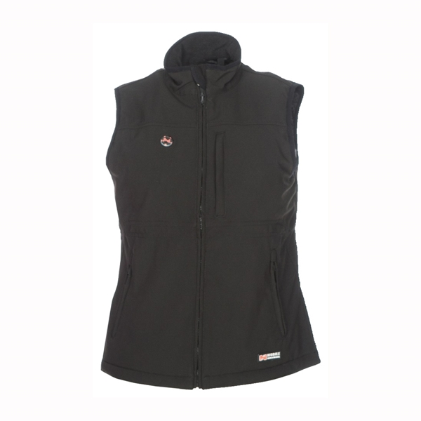 Picture of Mobile Warming MWJ13W02-LG-BLK Heated Vest, L, Women's, Fits to Chest Size: 40 in, Fabric, Black, Zipper Closure