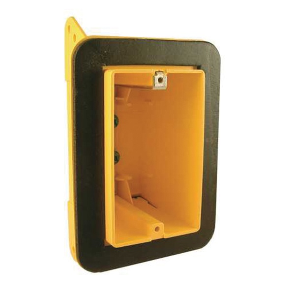 Picture of RACO 2011FBAR Vapor Barrier Box, 1-Gang, Polycarbonate, Yellow, Bracket Mounting
