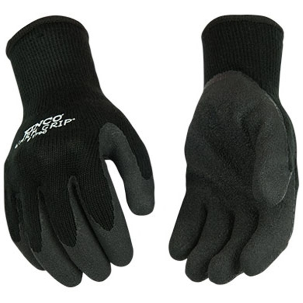 Picture of Warm Grip 1790-L Protective Gloves, Men's, L, 11 in L, Wing Thumb, Knit Wrist Cuff, Acrylic, Black