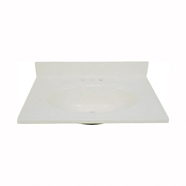 Picture of Foremost BS-1719 Vanity Top, 19 in OAL, 17 in OAW, Marble, Bone, Countertop Edge