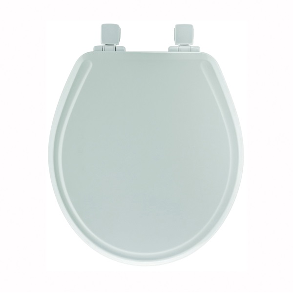 Picture of BEMIS 48SLOWA-000/48E2 Toilet Seat, Round, Wood, White, Twist Hinge