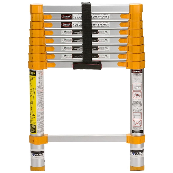 Picture of XTEND+CLIMB Home Series 750P Telescoping Ladder, 12-1/2 ft Max Reach H, 9-Step, 225 lb, 1-1/2 in D Step, Aluminum