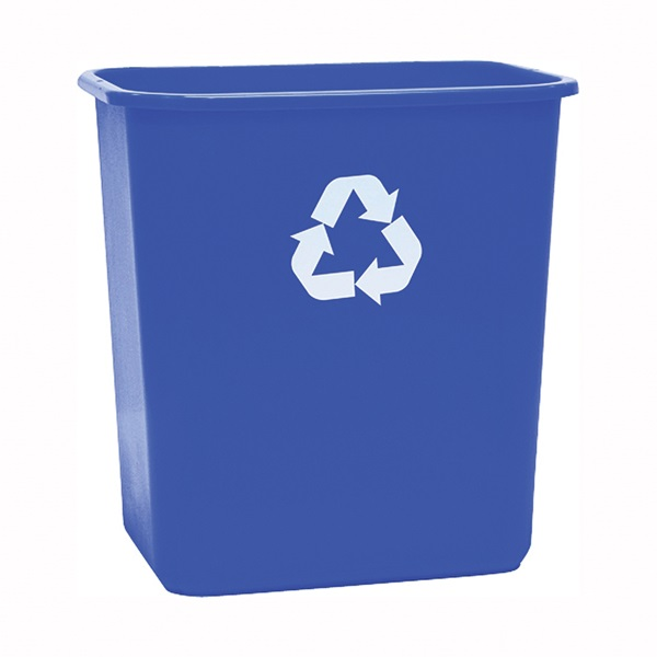 Picture of United Solutions ECOSense WB0084 Recycling Waste Basket, 7 gal Capacity, Plastic, Blue