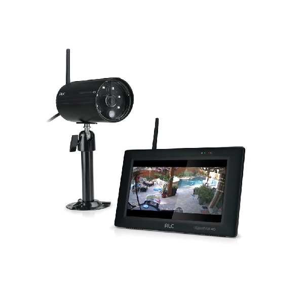 Picture of ALC AWS337 Camera and Monitoring System, 90 deg View Angle, 1080 pixel Resolution, microSD Card Storage, Black