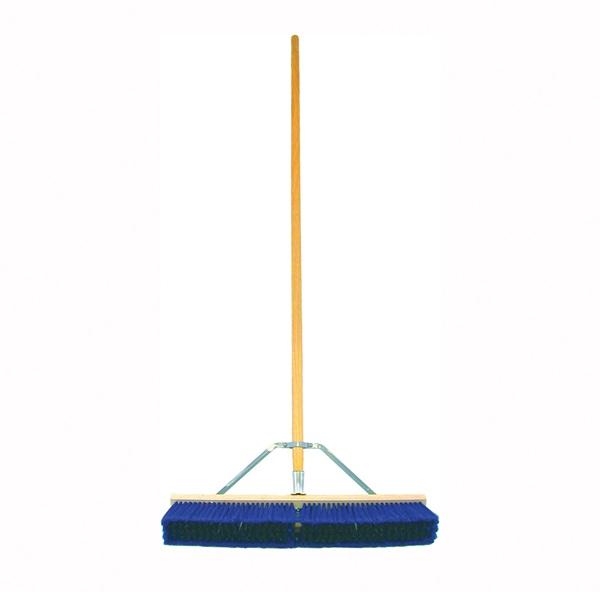 Picture of BIRDWELL 5028-4 Contractor Push Broom, 3 in L Trim, Polypropylene/Polystyrene Bristle, Hardwood Handle