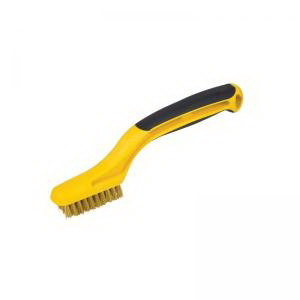Picture of HYDE 46811 Grout Brush, 2-1/4 x 5/8 in Brush, Brass Trim