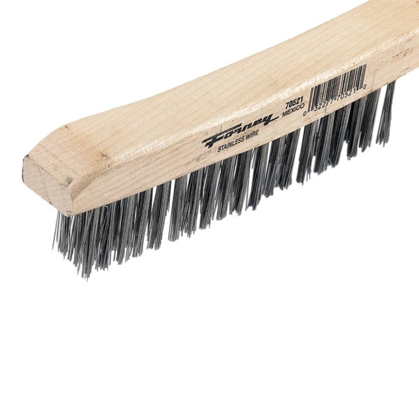 Picture of Forney 70521 Scratch Brush, 0.014 in L Trim, Stainless Steel Bristle