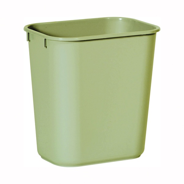 Picture of Rubbermaid 2955 Series FG295500BEIG Waste Basket, 13 qt Capacity, Plastic, Beige, 8-1/4 in W, 11-3/8 in D